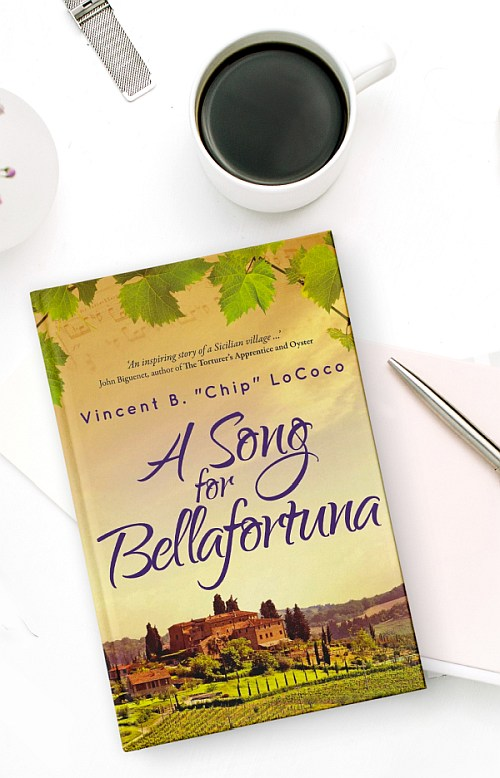 book cover design of A Song for Bellafortuna by Vincent B Chip LoCoco