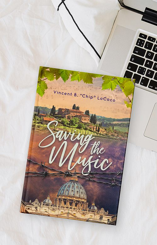 book cover design of Saving the Music by Vincent B Chip LoCoco